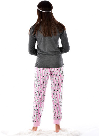 Pemilo Pijama Takım Antrasit